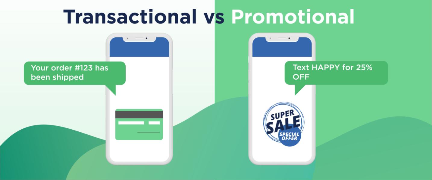 Transactional & Promotional Text Messages Comparison