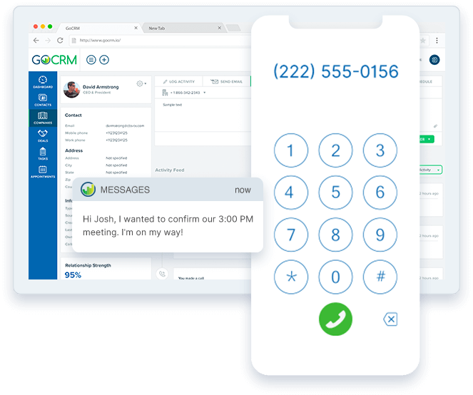 Mortgage CRM with built-in calling and SMS