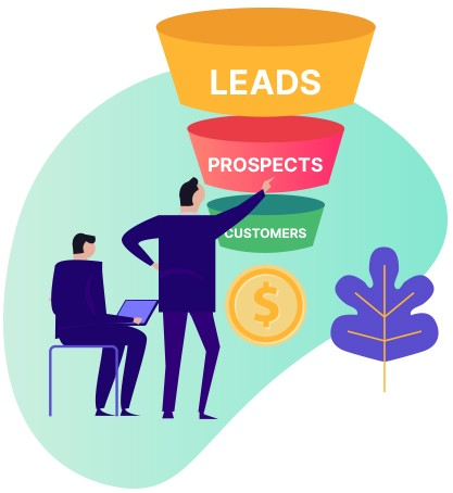Lead to prospect to customer funnel